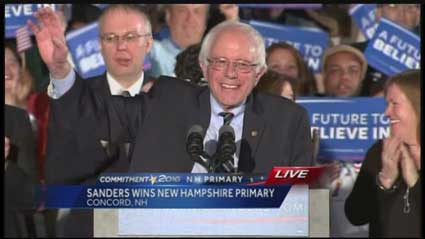Sanders' victory speech in New Hampshire
