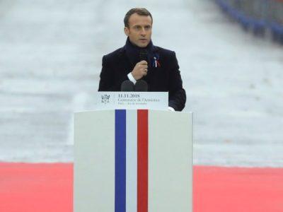 Macron, WWI memorial