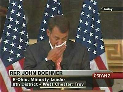 Boehner in tears