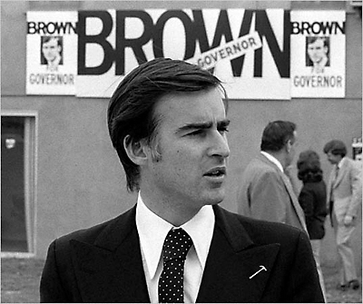 Governor-elect Gerry Brown, 1974