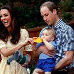 The Cambridges with Prince George
