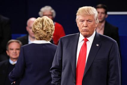 Trump chokes during second debate