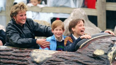 Diana, William, Harry, amusement park