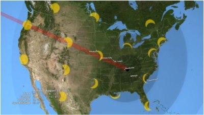 August 21 Solar Eclipse path