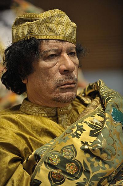 Libyan ruler Muammar al-Gaddafi