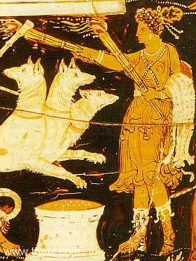 Hekate with Cerberus
