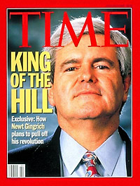 Gingrich on the cover of Time