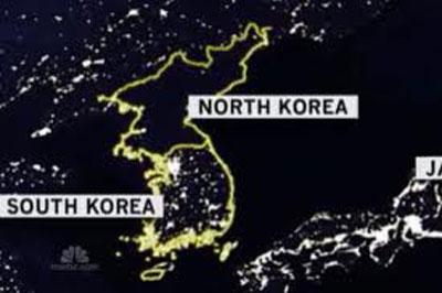 North Korea by night