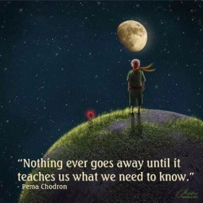 Pema Chodron, nothing ever goes away