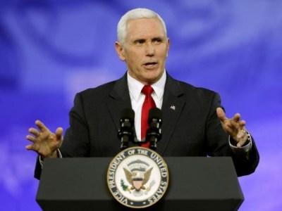 Mike Pence, looking presidential