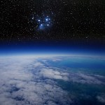 The Pleiades from the Upper Atmosphere