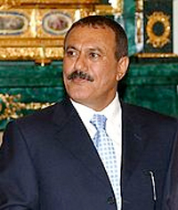President Ali Abdullah Saleh of Yemen, holding office since 1978