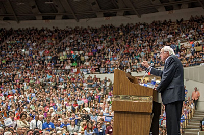 A Sanders campaign rally