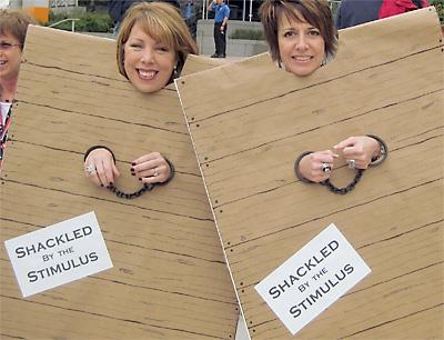 Tea party protestors, 2010