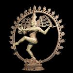 Shiva dancing over maya