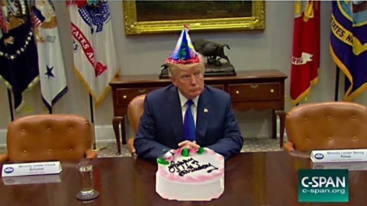 Trump Birthday - C-Span