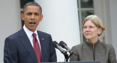 Elizabeth Warren with Obama