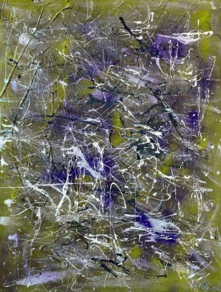 My first abstract painting. Mix media. 30x36 inches