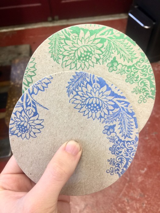Chipboard coasters