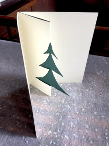 Die-cut evergreen tree