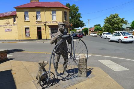 Penny Farthing statue