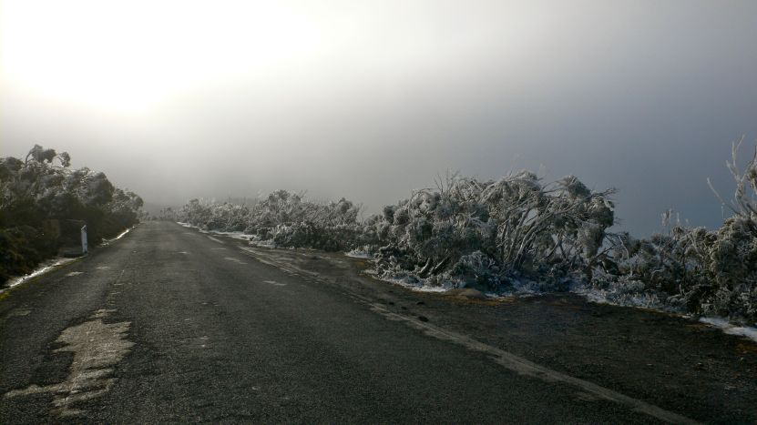 The road to the summit - not always open in winter