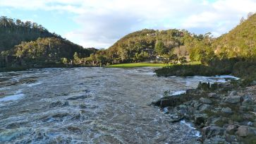 South Esk River flooding the First Basin