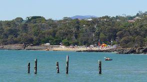 The patrolled beach at Bridport