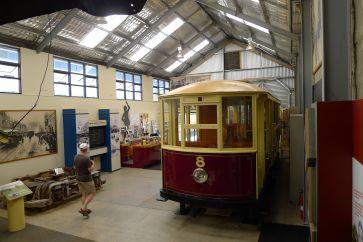 Inside the Tram Museum