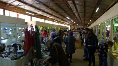 One of the smaller woolcraft display sheds