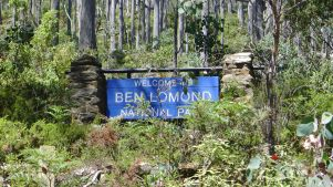 Entrance to Ben Lomond National Park