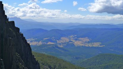 Green hills of north east Tasmania