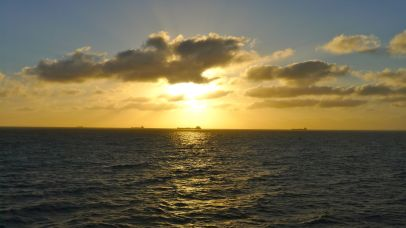 We're not the only large ship on Port Phillip Bay
