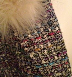 Close-up of multi-colour winter coat