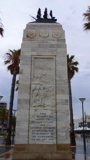 Memorial column, seaward-side