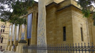 Adelaide Art Gallery - beautiful eucalyptus, beautiful limestone