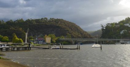 Following the water to the Old Mill at the mouth of Cataract Gorge next to Kings Bridge, Launceston