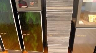 Treasures Wall - Green glass, slate, steel car duco
