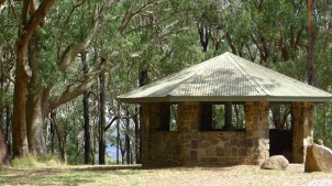 One of the huts at the top of One Tree Hill