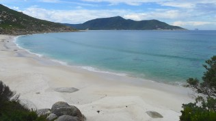 White sand at Little Oberon Bay