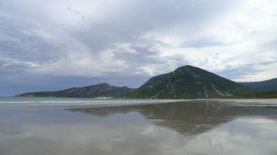 Looking back across Oberon Bay to Norman Point