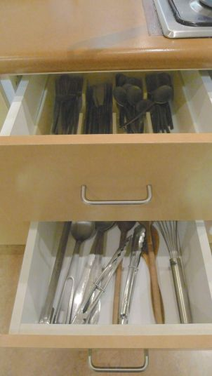 Kitchen draws - cutlery & utensils
