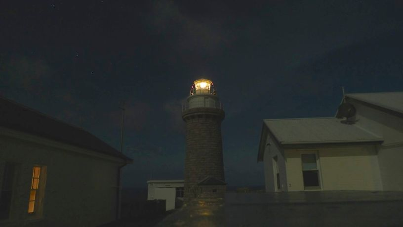 The lighthouse and cottages at Wilsons Promontory National Park Lightstation