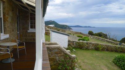 The eastern side of the veranda