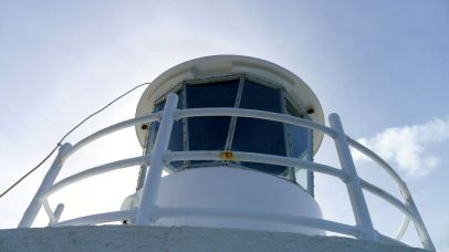The top of the lighthouse from the platform