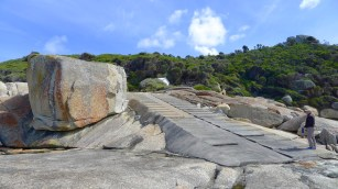 I did't even see the steps until after... to busy having fun climbing around the rocks!