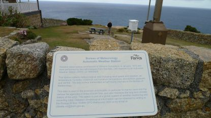 Information on the Bureau of Meterology's weather station at the lightstation