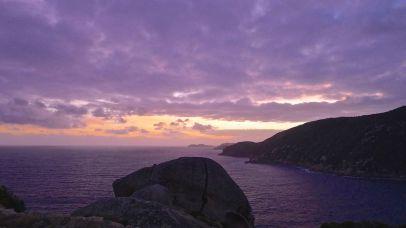 Purple hued sunset