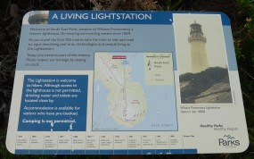 5/6 Welcome to the Lightstation - there are a number of these information plaques around