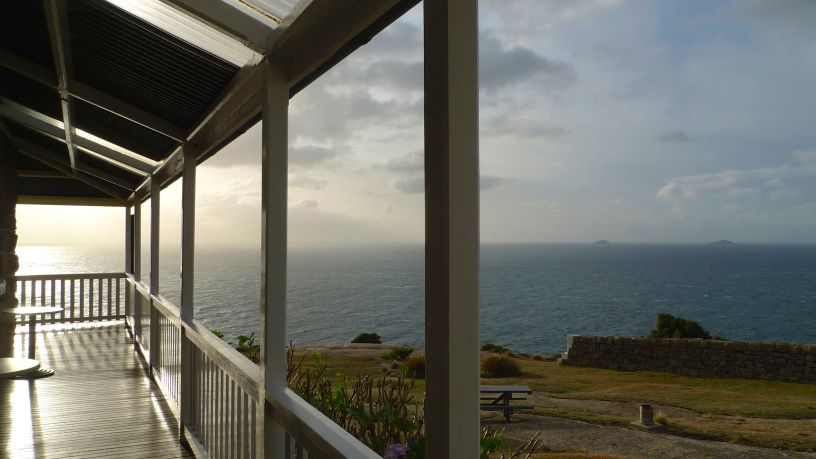Bright light along the veranda heralds a fabulous day